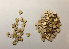100x Wooden Hearts 1.6mm Plywood Pine  10 Mm Size Craft Shape Decoration Blank
