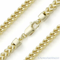 925 Sterling Silver 14k Gold-Plated 5.6mm Arrow Link Men's Franco Chain Necklace