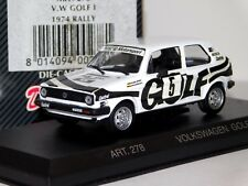 VOLKSWAGEN GOLF GTi #5 HOLGER JAENNER RALLY 1974 DETAIL CARS ART 278 1/43