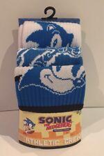 Sega Genesis Sonic The Hedgehog Socks Classic Retro 32 Bit 3Pk Athletic Crew Lrg