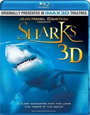 Sharks 3D (Blu-ray + 3D Blu-ray) IMAX NEW