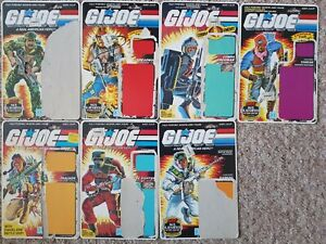 GI Joe/Action Force - Large Lot of 22+ Full/Partial Card Backs