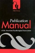 Publication Manual of the American Psychological Association (2001, paperbook)