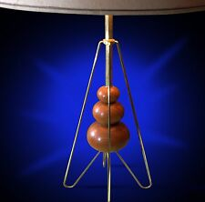 New listing Huge mid century atomic Lightolier era modernist 50s walnut lamp