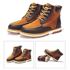 Men's Antiskid Ankle Boots High Top Lace Up Outdoor High Top Shoes Large Size