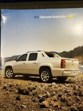 2011 Chevrolet dealer sales brochure Avalanche.