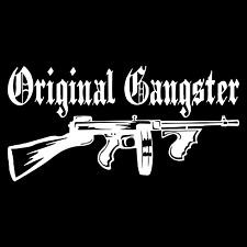Original Gangster OG Tommy Gun Car Truck Window Wall Laptop Vinyl Decal Sticker.