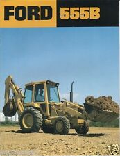 Equipment Brochure - Ford - 555B - Tractor Loader - c1980's (E1157)