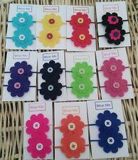 Fatto a mano Coppia di feltro fiore Bobbles-vari colori disponibili