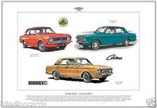 FORD CORTINA MK2 - Fine Art Print - A3 size - Lotus Cortina Super & 1600E models