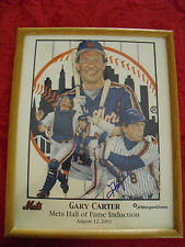 GARY CARTER **NEW YORK METS HALL OF FAME INDUCTION** AUTOGRAPHED FRAMED PHOTO