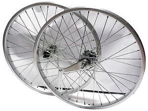 Ruota / Cerchio Anteriore + Posteriore Bici Epoca - Olanda 26 1 3/8 CONTROPEDALE