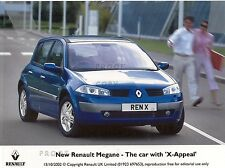 """RENAULT MEGANE PRESS PHOTO 2002 AND PRESS RELEASE """"X-APPEAL"""" *POST FREE UK *"""
