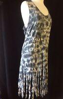 Ladies Womens Tie Dye Beach Dress Cover Up Swim Dress Size 6 8 10 12 14 16 18