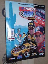 2003 Checker Auto Parts 500 PIR Official Race Program Foldout Starting Lineup