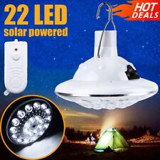 22 LED Solar Lampe Glühbirne Solarleuchte Campinglampe Garten Außen Beleuchtung