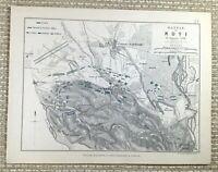 1855 Antico Militare Mappa Di Il Battle Novi 1799 Imperiale Russo Guerra