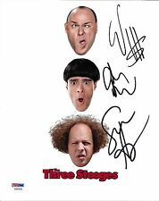Sean Hayes & Will Sasso Chris Diamantopoulos Signed 3 Stooges 8x10 Photo PSA/DNA