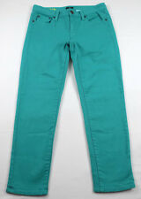J. Crew Stretch TOOTHPICK Size 27 Teal Skinny Jeans, Low Rise Cropped Inseam 25