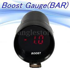 12V Micro Red Digital LED Bar Turbo Boost Gauge Meter Smoke Len Black Shell US