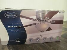 IN BOX Harbor Breeze Mayfield  0807425 44 inch Ceiling Fan Brushed Nickel