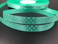 New DIY 10 Yards 3/8 10mm Polka Dot Ribbon Satin Craft Sewing Supplies deep blue