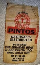 Triad Ranch Beans Pintos Trinidad Bean Elevator Denver CO 100 lb Burlap Bag Sack