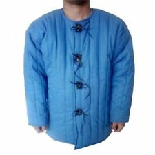Medieval-Thick-Padded-Blu e-Gambeson-costumes-theate r-sca