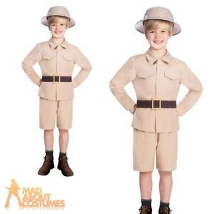 Kids Child Safari Boy Costume Zoo Keeper Jungle Explorer Fancy Dress Outfit