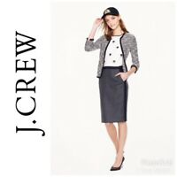 J.Crew Women's No 2 Pencil Skirt Tipped Colorbock Gray Navy Size 00 Wool C2