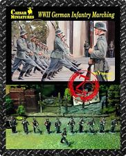 WWII German Marching Infantry- Caesar Miniatures H081- 1/72 Scale