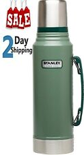 Stanley Thermos Classic Vacuum Bottle Hammertone Green 1.1 Qt