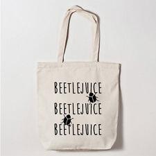 Halloween Beetlejuice Dolcetto o Scherzetto Canvas Tote Bag SPIDER Spettrali SWEET BAG