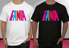 NEW Fania Records Music Logo Men's Clothing Black & White T Shirt Size S-2XL