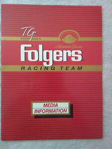 1987 TIM RICHMOND TG Sheppard Folgers Racing Team Media Information Kit