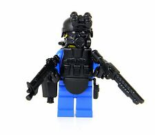 Blue SWAT Police commando (SKU5) Minifigure army builder made with real LEGO®