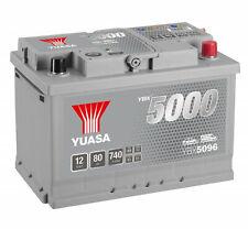 Yuasa YBX5096 12V Silver 096 Series Car Battery 80Ah 740A