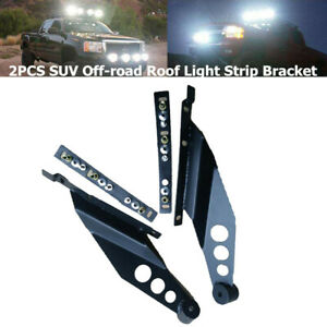 Car Upper SUV Off-road Vehicle Roof LED Light Strip Bar Mounting Bracket Black
