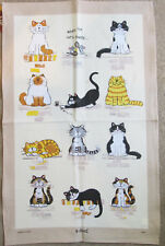 """When the Cat's Away"" Linen Blend McCaw Allan - Cat Tea Towel"