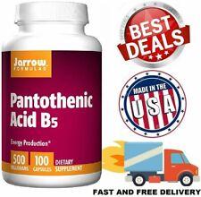 PANTOTHENIC ACID 500 mg Energy Production Vitamin Supplement B5 100 Capsules NEW
