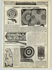 1938 PAPER AD G-Man Target Board Game Li'L Abner Shooting Whippet Dog Race Game
