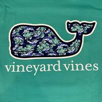 Vineyard Vines Mens S/S Pocket T-shirt Sz XL Marlin Flowers Whale Fill- NEW TAGS