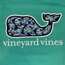 Vineyard Vines Mens S/s Pocket T-shirt Sz XL Marlin Flowers Whale Fill- Nes