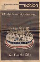 January 1976 Action Magazine Philadelphia Flyers 76ers Spectrum