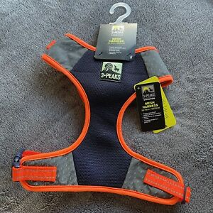 3 Peaks Reflective Sofe Padded Adjustable Mesh Dog Harness Navy & Orange Uk