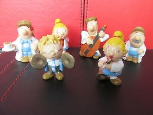 Original Lyons Tetley Tea Folk Figures x 6 1994 All Different
