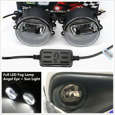 2PCS Full LED Fog Lamp Angel Eye+Sun Light Front Bumper Clear Lens for MBW Jeep