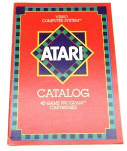 Atari Catalog (45 Game Program Cartridges) CO16725-Rev. D