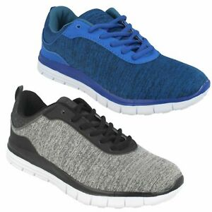 AIRTECH PROFILE MENS GREY BLUE LACE UP CASUAL RUNNING GYM TRAINERS SPORTS SHOES