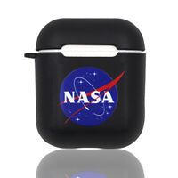 Nasa Apollo Black Case Cover For Apple AirPods Headphones (1st & 2nd generation)